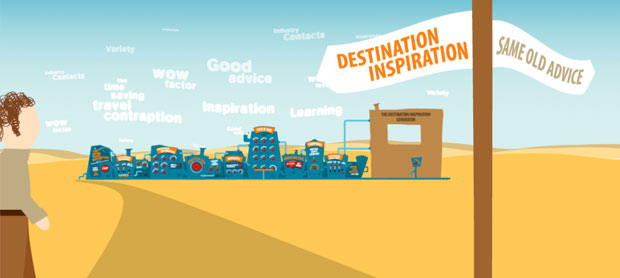 travel company web animation