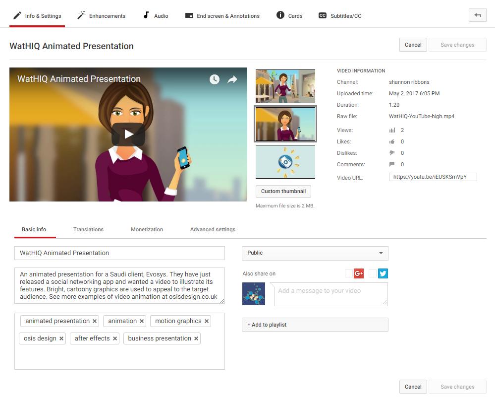 Use the YouTube description box! - Osis Design