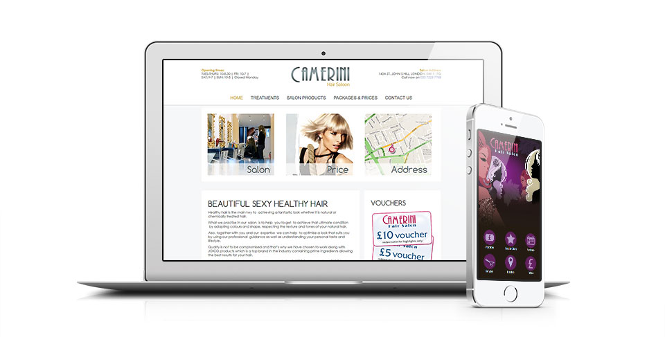 London Hairdresser Website by Osis