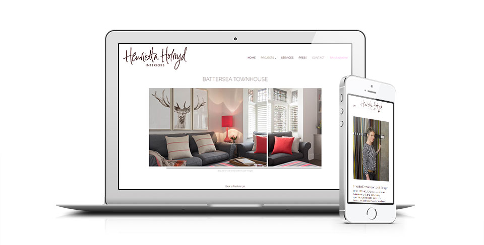 Interior designer website by osis