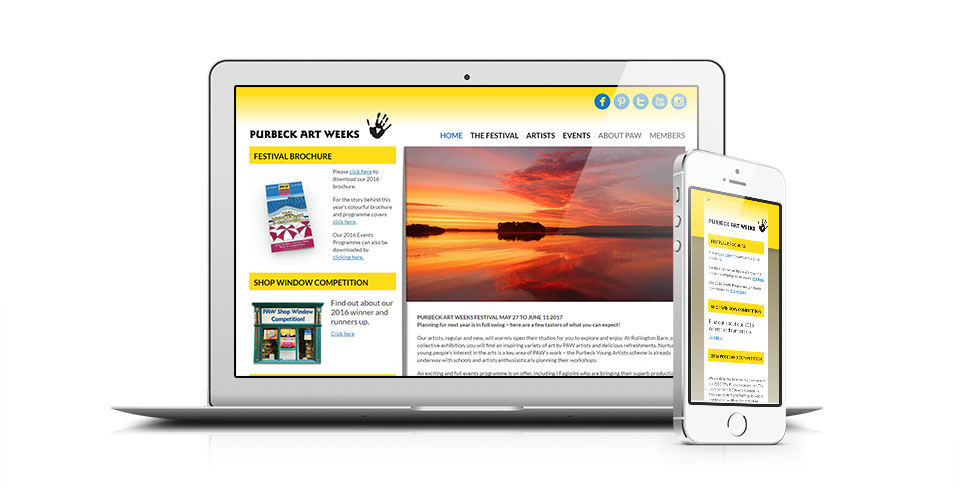 Arts Website by Dorset web agency