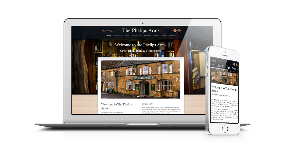 pub web site designed by Osis