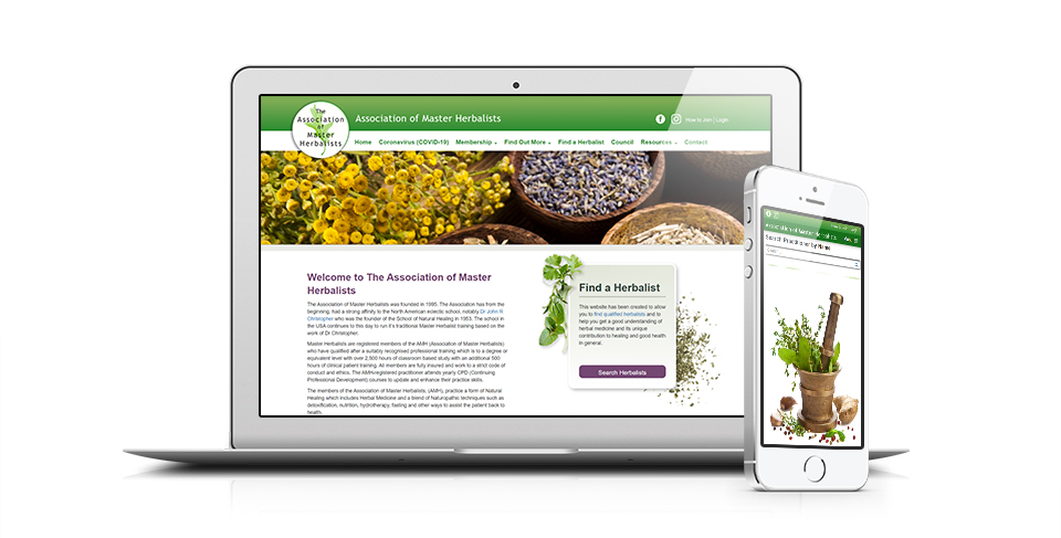 herbalists website design